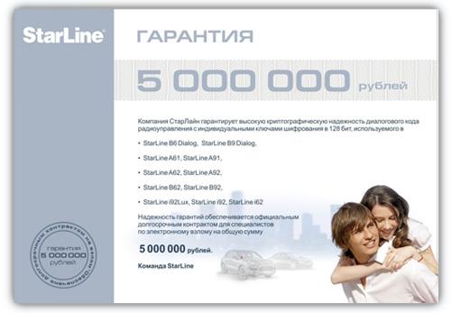 Гарантия 5 000 000 рублей на диалоговый код